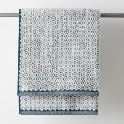 Dot Jacquard Reversible Cotton Bath Towel