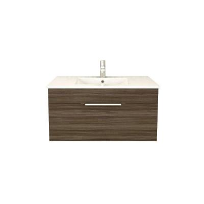 Textures Collection 36 in. W Vanity in Driftwood with Acrylic Sink