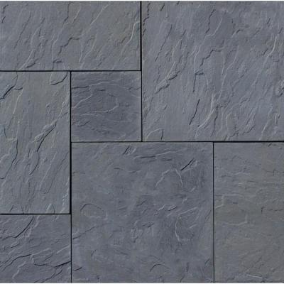 Patio-on-a-Pallet 120 in. x 120 in. Gray Dutch York-Stone Concrete Paver (Pallet of 44-Pieces) Product Photo