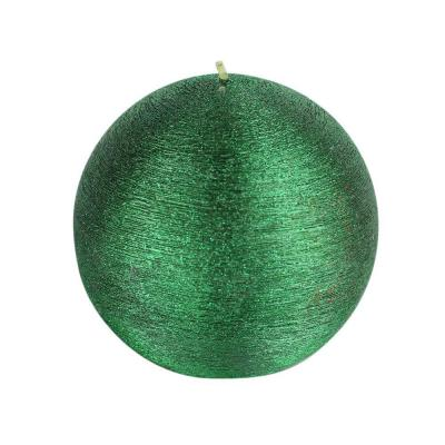 null 4 in. Unscented Green Scratch Ball Candle (2-Box)