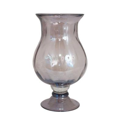 Home Decorators Collection 7 in. W Dana Purple Hurricane Glass Candle Holder-DISCONTINUED