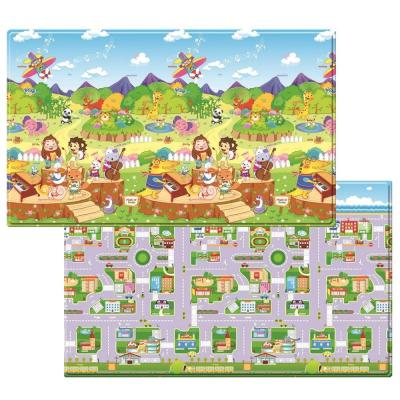 Dwinguler 4 ft. 6 in. x 7 ft. 6 in. Animal Orchestra Play Mat