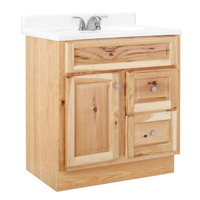 in h vanity cabinet only in natural hickory hnhk30dy the home depot