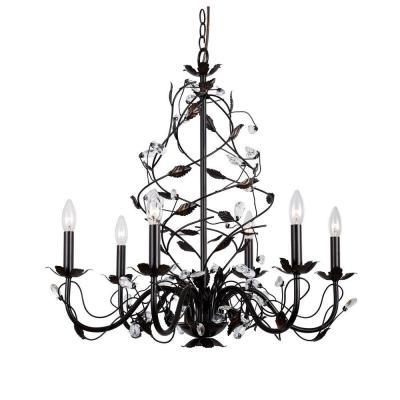 Hampton Bay 6-Light Oil Rubbed Bronze Chandelier-HD-236752 - The ...:Hampton Bay 6-Light Oil Rubbed Bronze Chandelier-HD-236752 - The Home Depot,Lighting