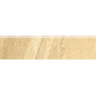 Ayers Rock Golden Ground 3 in. x 13 in. Glazed Porcelain Bullnose Floor and Wall Tile Product Photo