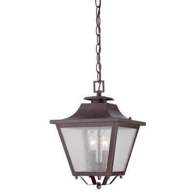 Acclaim Lighting Lafayette Collection Hanging Lantern 2-Light Outdoor Architectural Bronze Light Fixture