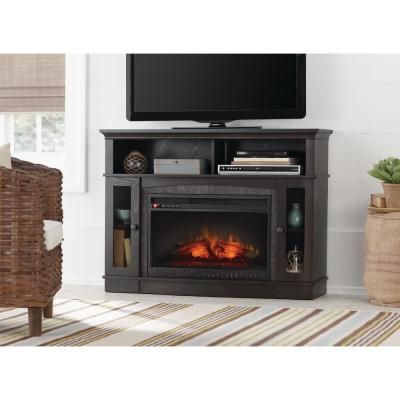 Grafton 46 in. Media Console Infrared Electric Fireplace in Anthracite