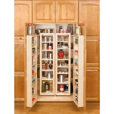 45 in. H x 12 in. W x 8 in. D Wood Swing-Out Cabinet Pantry Organizer Kit Product Photo