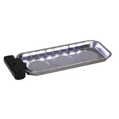Grip 6 in. x 14 in. LED Magnetic Parts Tray