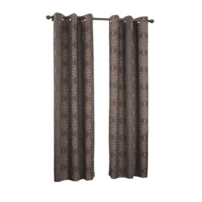 Wine Tina Thermal Lined Grommet Curtain Panel, 40 in. W x 63 in. L Product Photo