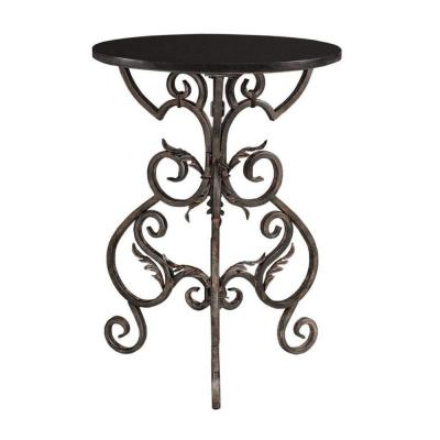 Home Decorators Collection 27.5 in. H Wrought Black and Gold Side Table-DISCONTINUED