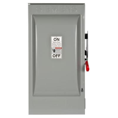 Heavy Duty 200 Amp 600-Volt 3-Pole Outdoor Fusible Safety Switch Product Photo