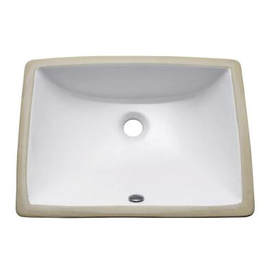Undermount Bathroom Sink in White Product Photo