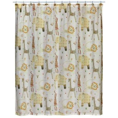 Creative Bath Animal Crackers 72 in. x 72 in. 100% Animal Print Cotton Shower Curtain