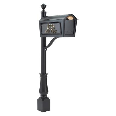 Standard Chalet Mailbox Package in Black Product Photo