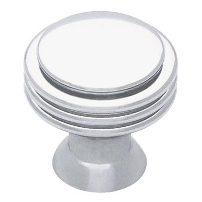 Liberty 1-1/8 in. Polished Chrome Ringed Cabinet Knob