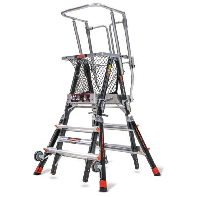 Little Giant Ladder Systems 3 ft.-5 ft. Fiberglass 375 lbs. Rated Type IAA Adjustable Safety Cage