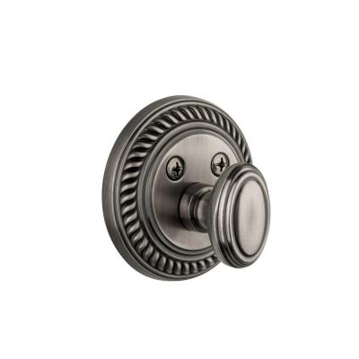 Newport Antique Pewter Single Cylinder Deadbolt - Keyed Differently