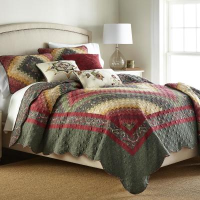 Donna Sharp Spice Postage Stamp Collection Geometric 140-Thread Count Polyester Quilt