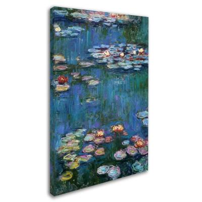 22 in. x 32 in. Water Lilies Classic Canvas Art
