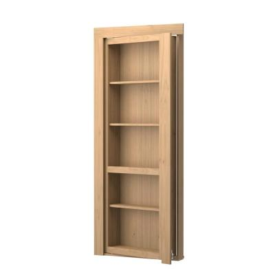 30 in. x 80 in. Unassembled Unfinished Maple Flush Mount Bookcase Wood Single Prehung Interior Door Product Photo