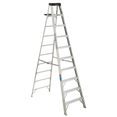 Werner 10 ft. Aluminum Step Ladder with 300 lb. Load Capacity Type IA Duty Rating