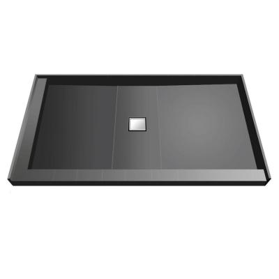 34 in. x 60 in. Double Threshold Shower Base with Center Drain Product Photo