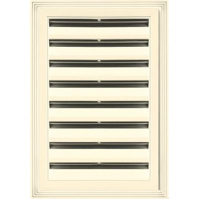 12 in. x 18 in. Rectangle Gable Vent #020 Heritage Cream