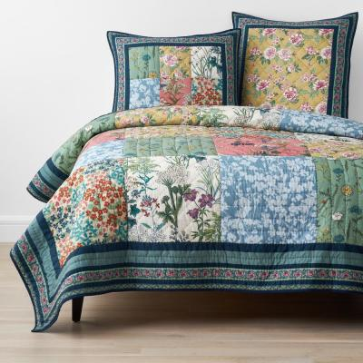 Ashford Handcrafted Multicolored Cotton Quilt