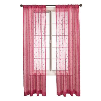 Home Decorators Collection Fantasia Hot Pink Rod Pocket Curtain