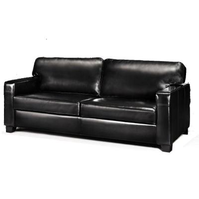 Home Decorators Collection Hartford Black Leather Sofa