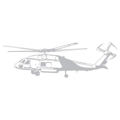 Sudden Shadows 19.5 in. x 60 in. Helicopter Sudden Shadow Wall Decal