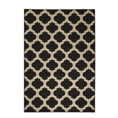 Ciudad Black/Natural 3 ft. 6 in. x 5 ft. 6 in.