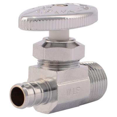 SharkBite 1/2 in. Chrome-Plated Brass PEX Barb x 1/2 in. Male Straight Stop Multi-Turn Valve