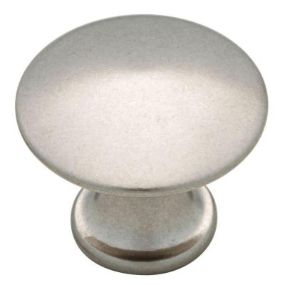 1-1/8 in. Bedford Nickel Discus Cabinet Knob
