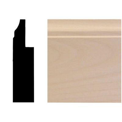 3/4 in. x 3 in. x 96 in. Basswood Wainscot Base Moulding Product Photo