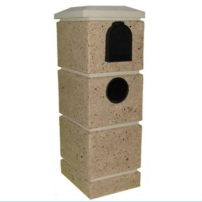 Calava Granite Stack Tan Post Mount Mail Column Product Photo