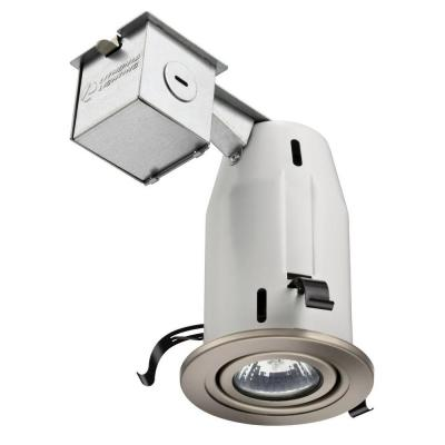 Lithonia Lighting 3 in. Brushed Nickel Recessed Gimbals LED Lighting Kit