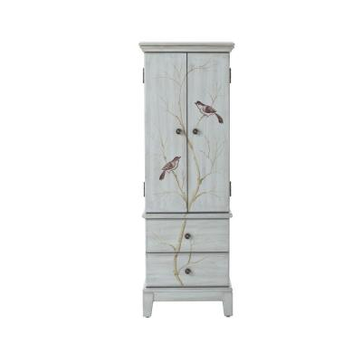 Chirp 46.5 in. x 16 in. 8-Drawer Chest in Pewter