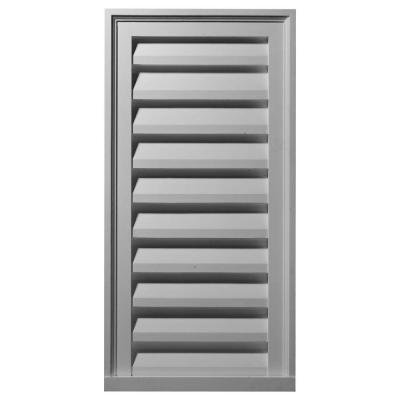2 in. x 18 in. x 36 in. Decorative Vertical Gable Louver Vent Product Photo