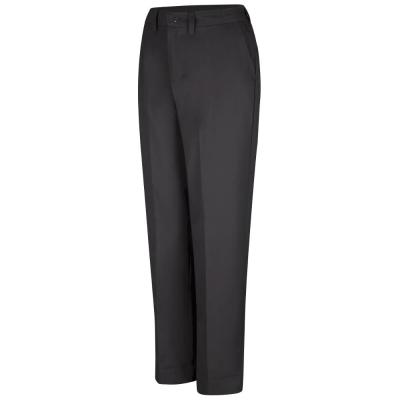 Women's Black Elastic Insert Work Pant