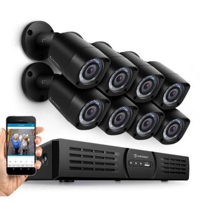 720P HD Over Analog (HDCVI) 16-Channel 2TB Video Security System with 8 x 1MP Bullet Cameras, Black Product Photo
