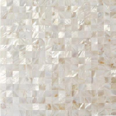 Mother of Pearl White Square Pearl Shell Mosaic Floor and Wall