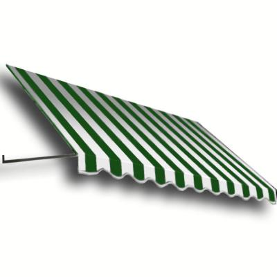 AWNTECH 16 ft. Dallas Retro Window/Entry Awning (16 in. H x 30 in. D) in Forest/White Stripe