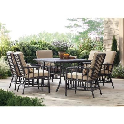 Martha Stewart Living Bryant Cove 7 Piece Patio Dining Set Dybc 7pc The Home Depot