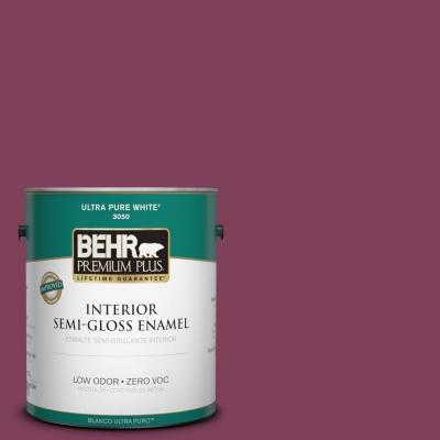 BEHR Premium Plus Home Decorators Collection 1-gal. #HDC-WR14-12 Cheerful Wine Semi-Gloss Enamel Interior Paint