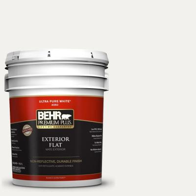 Home Decorators Collection 5-gal. #HDC-MD-06 Nano White Flat Exterior Paint