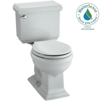 KOHLER Memoirs Classic 2-piece 1.28 GPF Round Toilet with AquaPiston Flushing Technology in Ice Grey