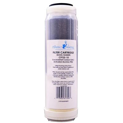 Perfect Water Technologies Tap Master Jr F2, Activated Alumina/GAC Fluoride Filter Replacement Water Filter CFF25-10