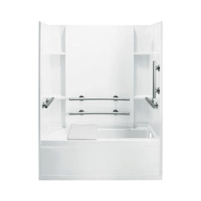 Accord 32 in. x 60 in. x 74 in. Bath and Shower Kit with Right-Hand Drain in White Product Photo